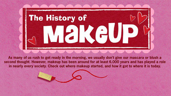 makeup history infographic