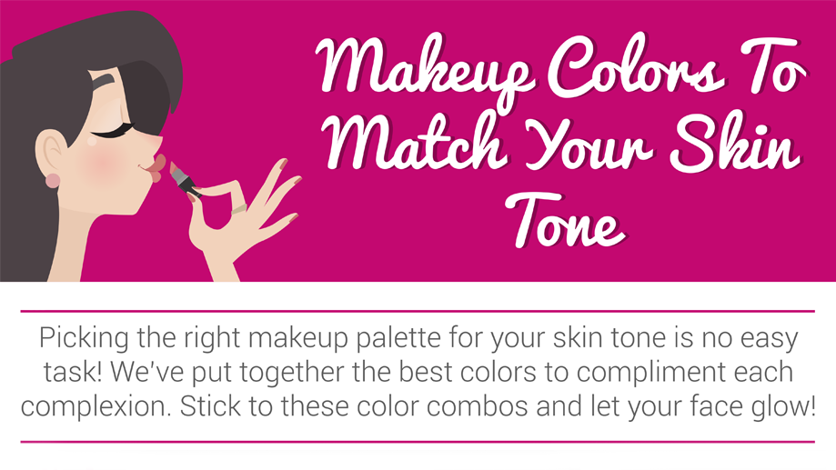 Colors That Compliment Pink up colors to match your skin tone: infographic