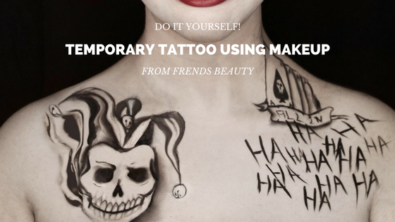 Creating a DIY Temporary Tattoo Using Makeup - Frends Beauty Blog