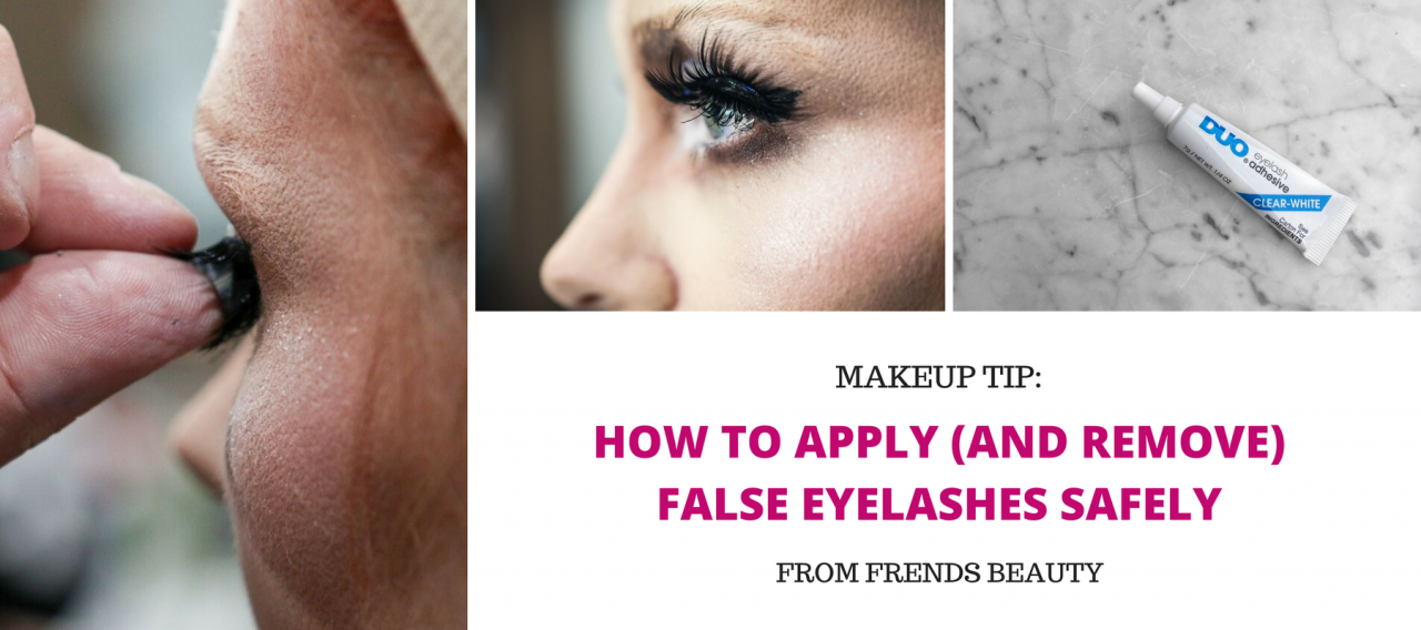 How to Apply (and Remove) False Eyelashes Safely