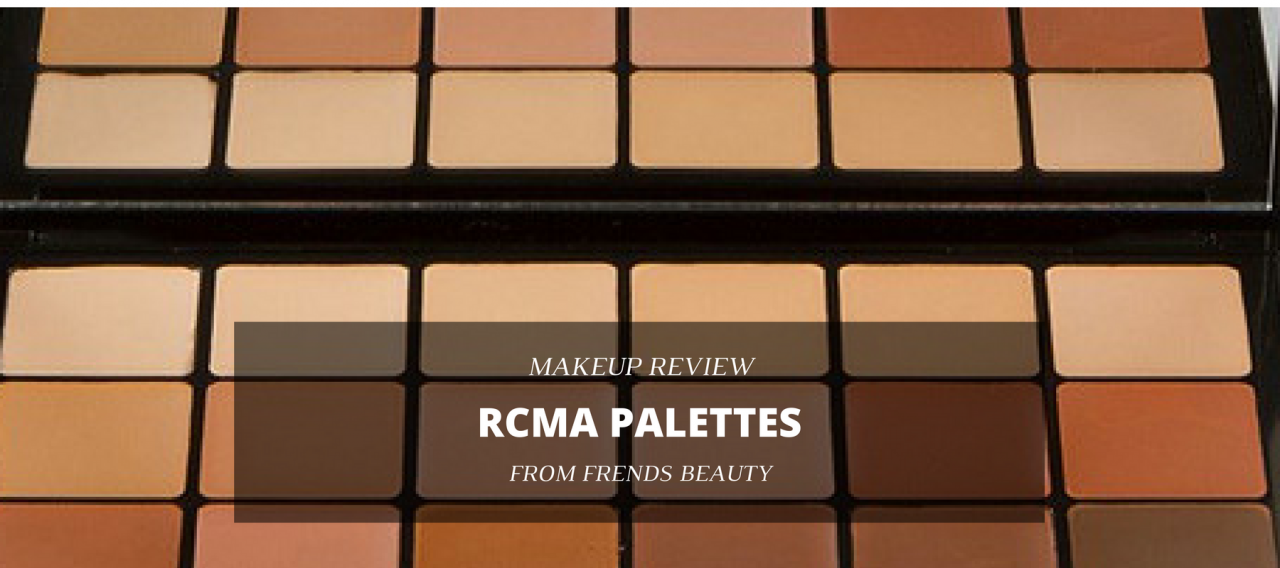 Makeup Review RCMA Palettes From Frends Beauty