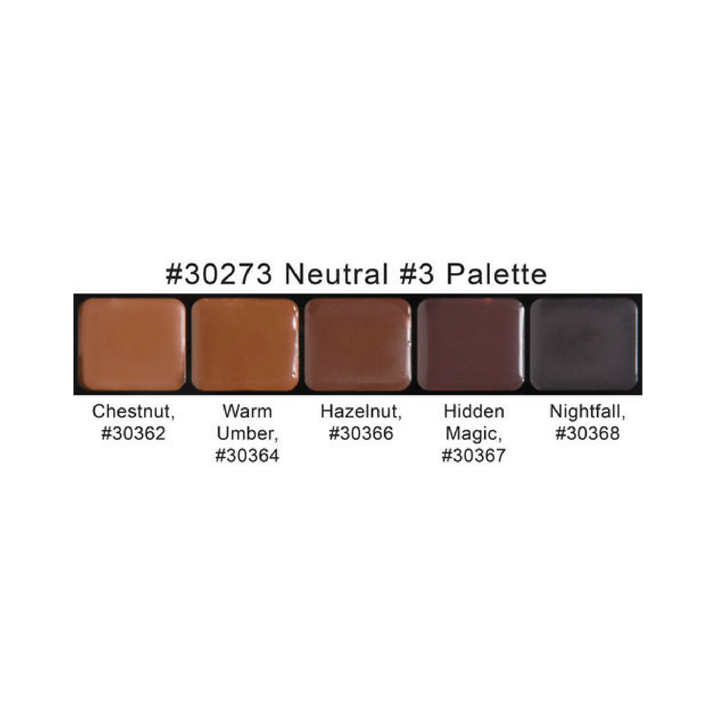 Neutral Color Definition: Graftobian HD Glamour Creme Palette Neutral #3