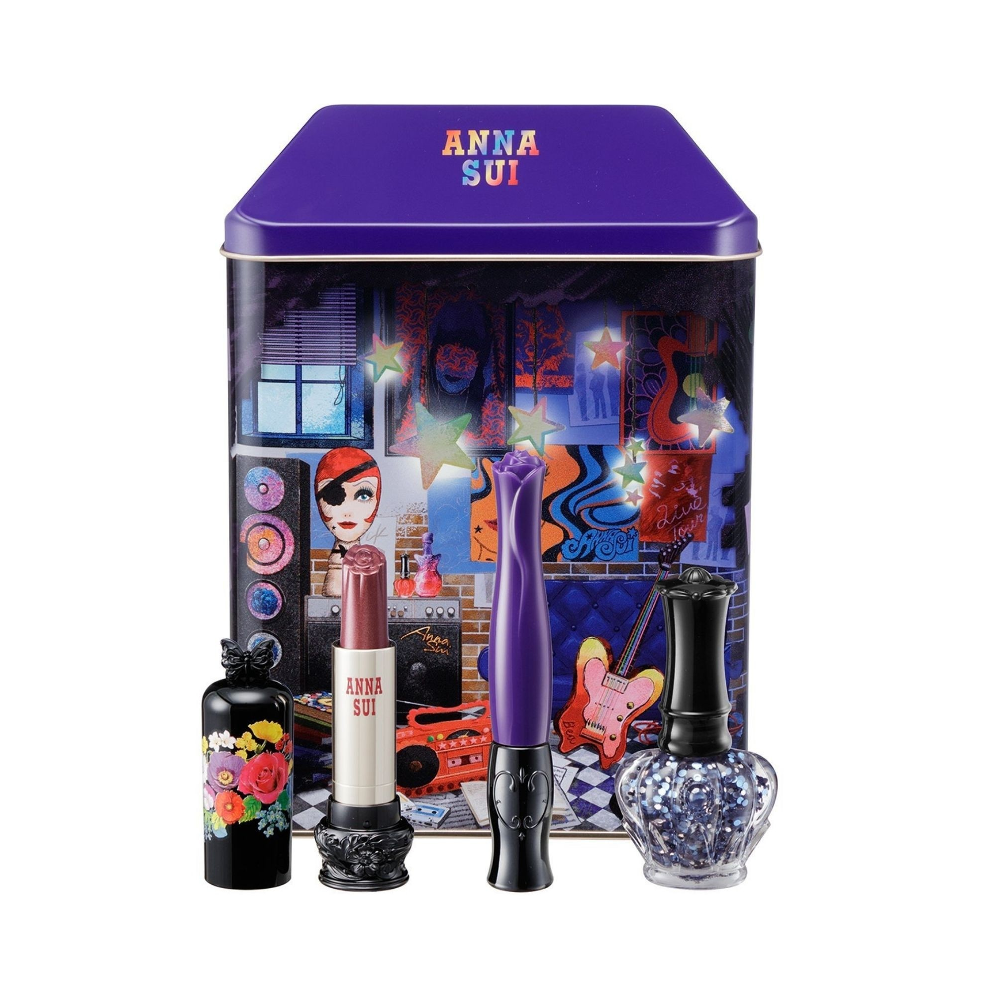 Anna Sui Dolly Head Makeup Coffret Set Bea Box with products