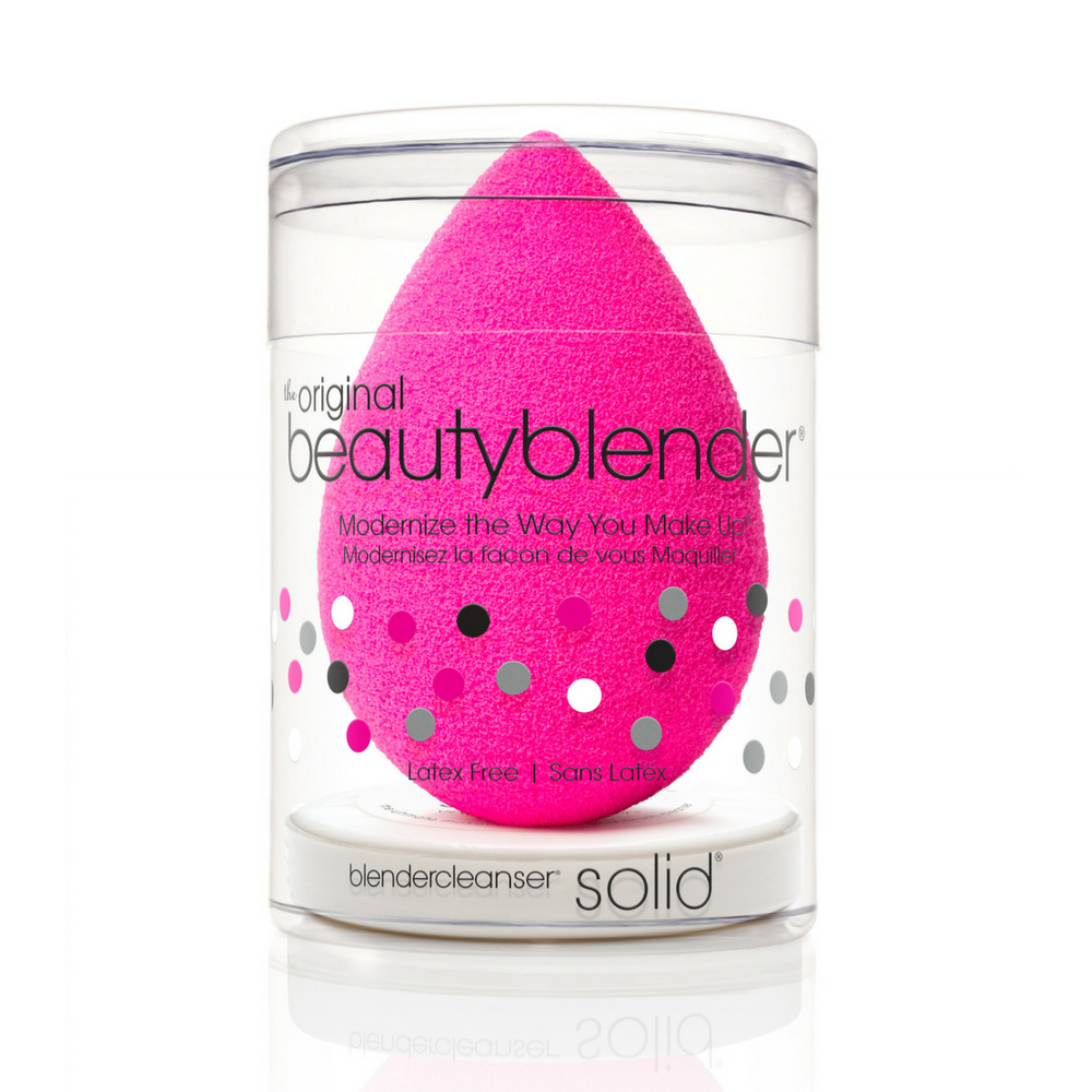 Beauty Blender 1ct + Mini BlenderCleanser Solid PINK