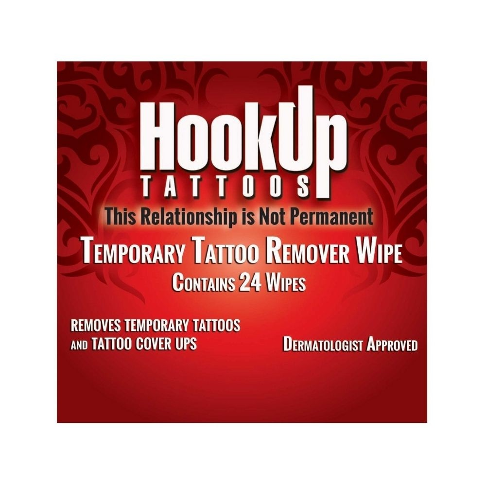 Hook Up Tattoos Temporary Tattoo Remover Wipe 24