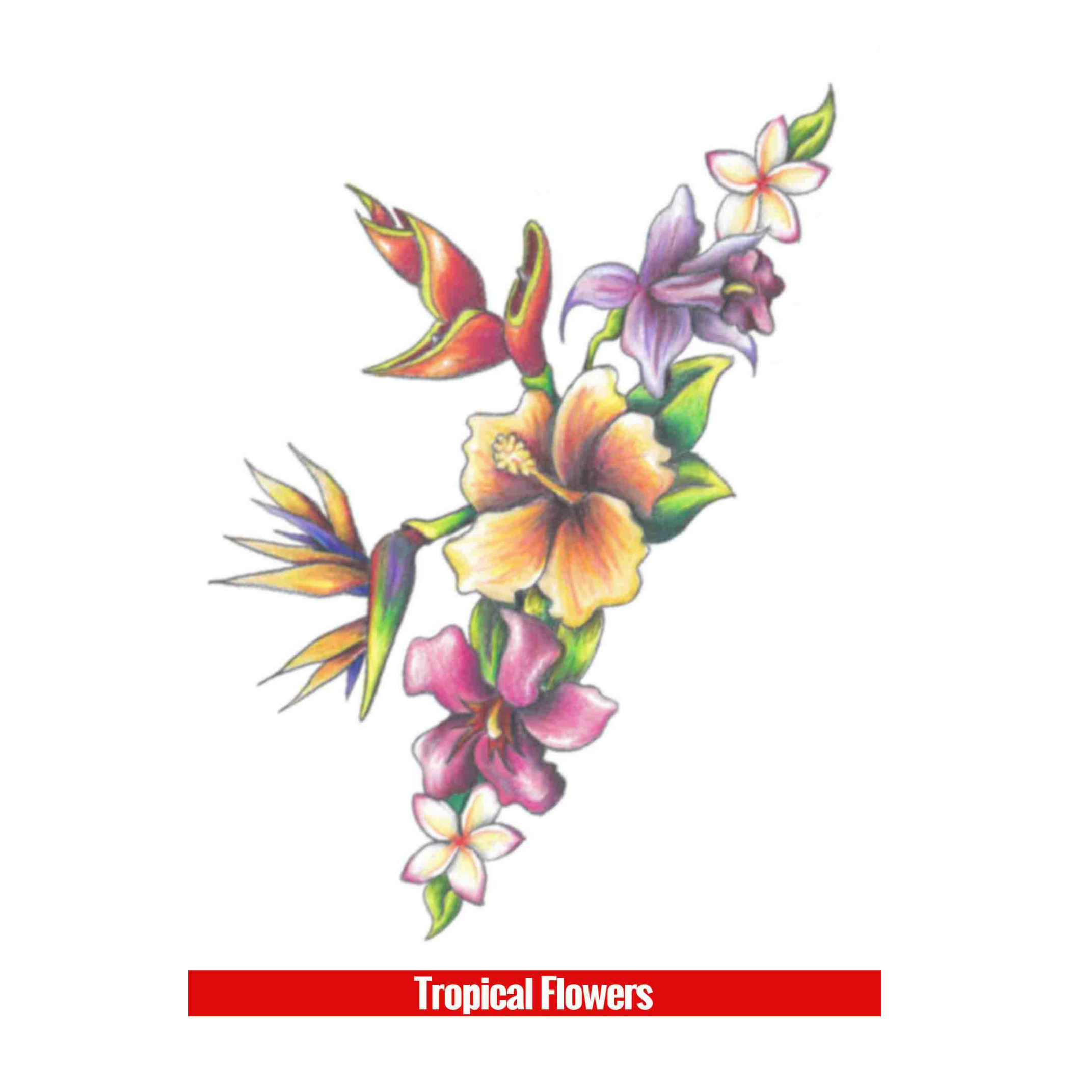 Hook Up Tattoos Tropical Flowers