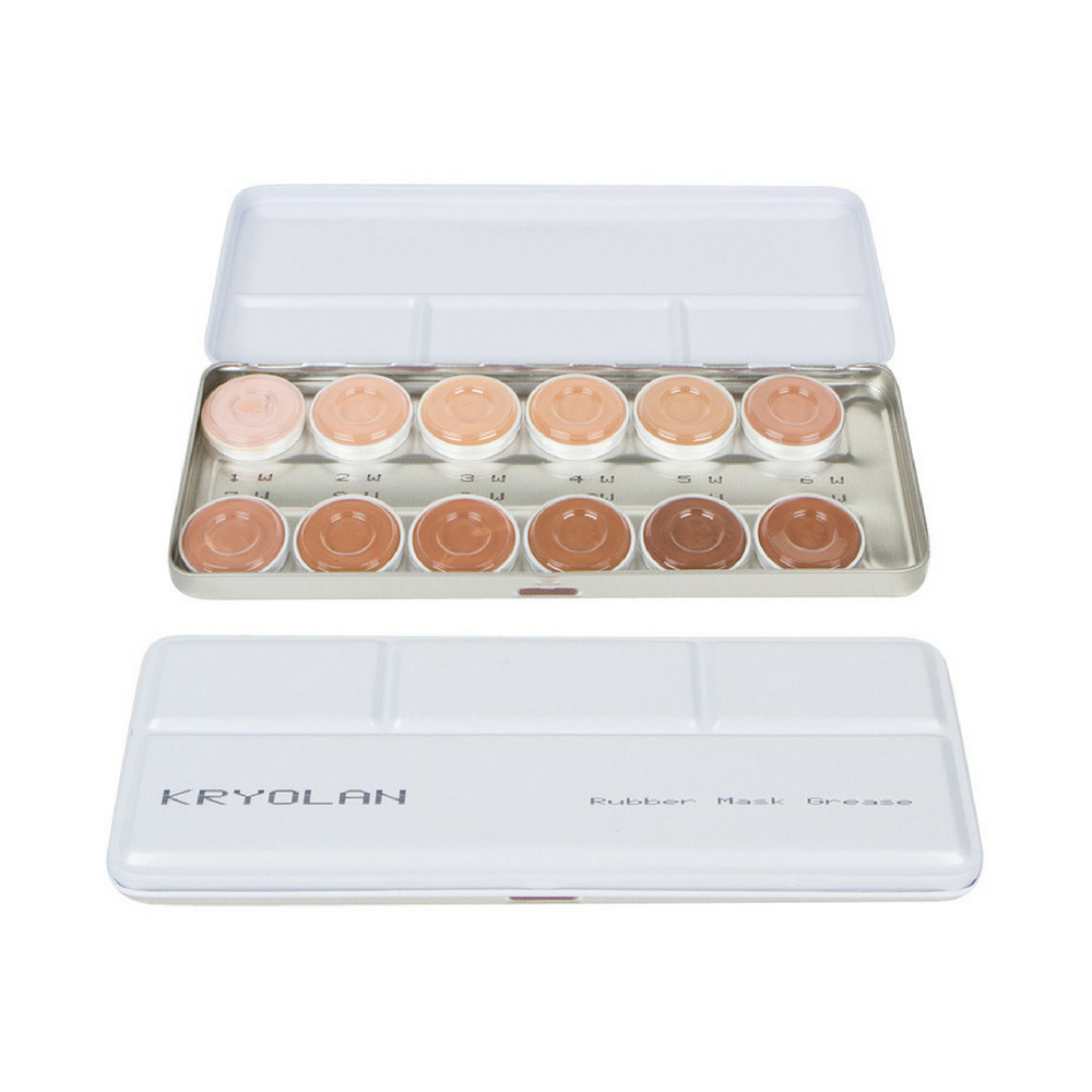Makeup Palettes Kryolan Rubber Mask Grease W