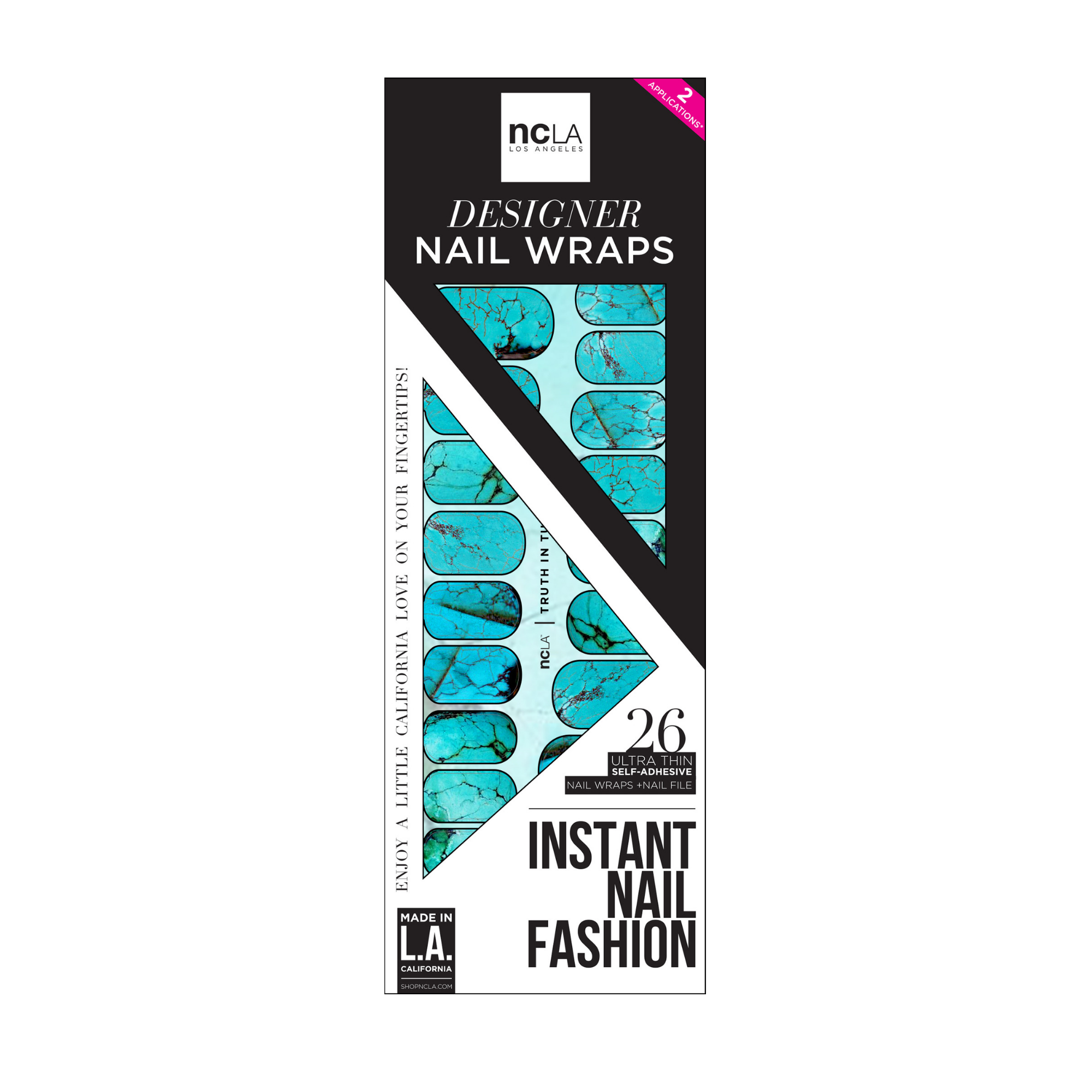 NCLA Nail Wraps Truth In Turquoise