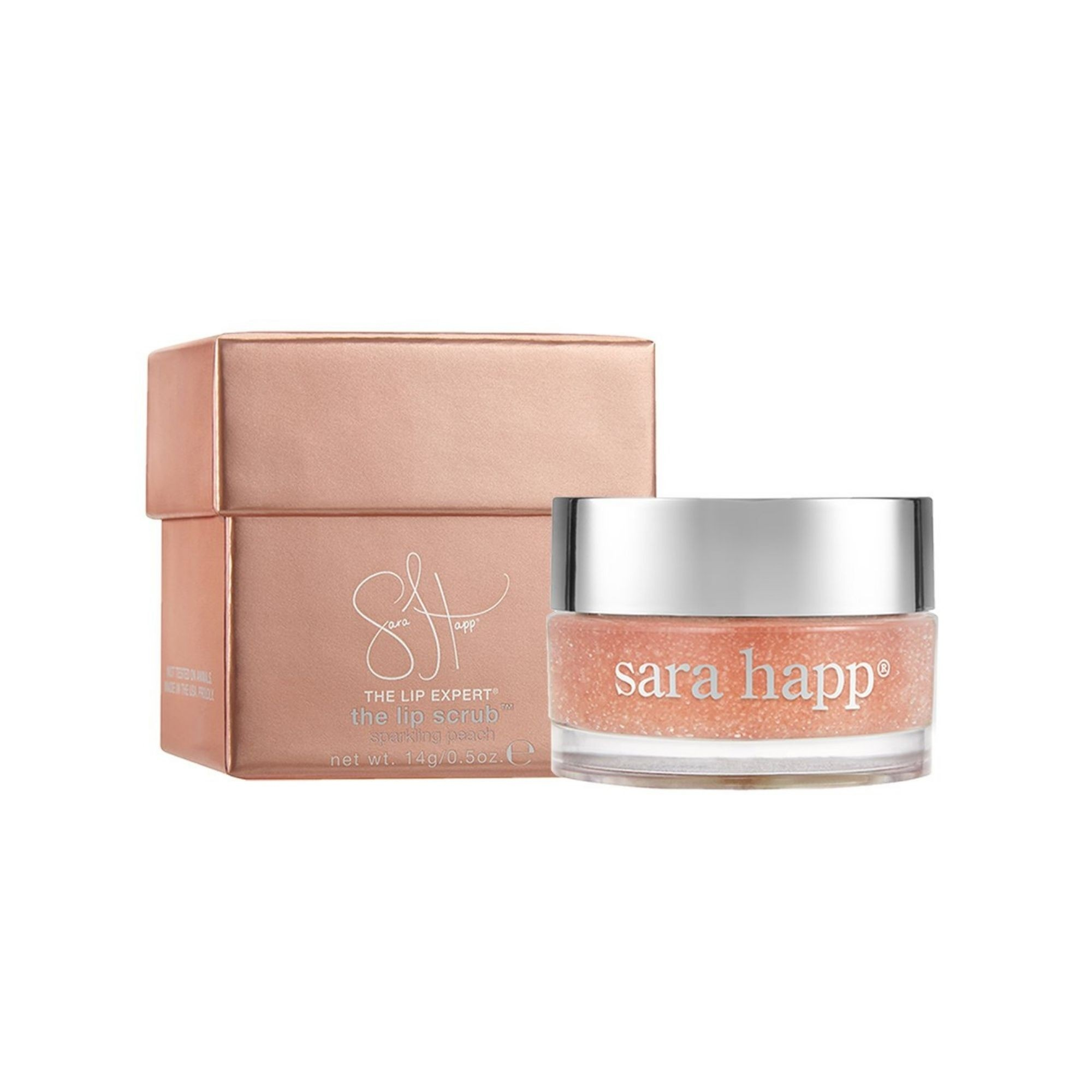 Sara Happ The Lip Scrub Sparkling Peach