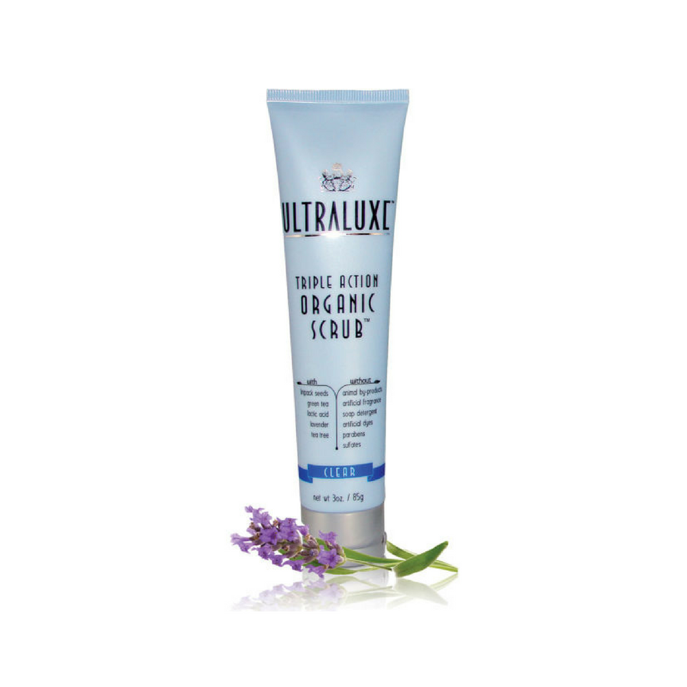 Ultraluxe Triple Action Organic Scrub - Clear