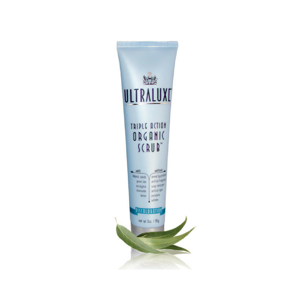Ultraluxe Triple Action Organic Scrub - Discoloration