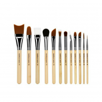 Bdellium SFX Brush Set 12 pc. with Double Pouch (2nd Collection) Flat Lay