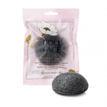 Doll Face Pretty Puff Natural Konjac With Bamboo Charcoal