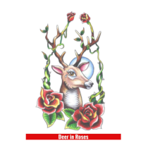 Hook Up Tattoos Deer In Roses