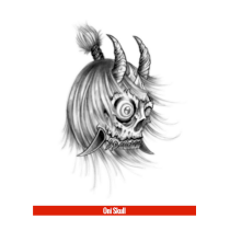 Hook Up Tattoos Oni Skull (Large)