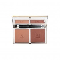Jouer Sunswept Bronzer Duo Palette Deep to Dark Close