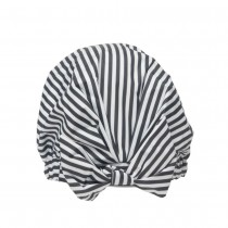 Kitsch Luxe Shower Cap Black and White Stripe