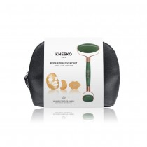 Knesko Nanogold Repair Collagen Mask & Green Jade Gemstone Roller Set