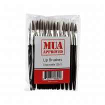 MUA Approved Disposable Lip Brushes 25ct.