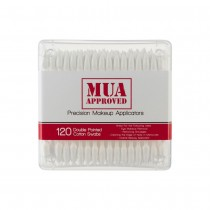 MUA Approved Precision Makeup Applicators Double Pointed Cotton Swabs