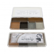 Skin Illustrator makeup palettes scalp