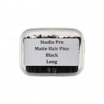 Studio Pro Matte Hair Pins Long Black