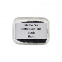 Studio Pro Matte Hair Pins Short Black