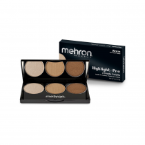 Mehron Highlight-Pro 3 Shade Palette Warm
